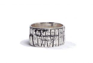 anneau mixte argent massif - création bijoi