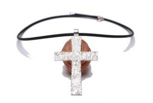 Croix argent Création Bijoi