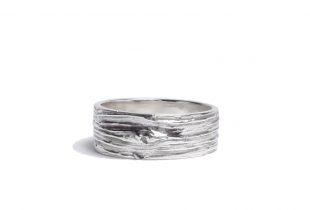 anneau argent massif - création bijoi