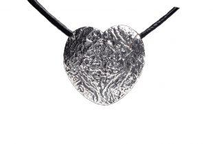 pendentif Coeur argent massif - création bijoi