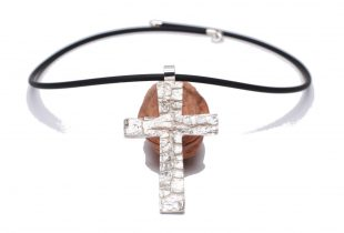 Croix argent masculine Bijoi